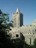 Der Turm der Rudelsburg Quelle: WikiCommons
